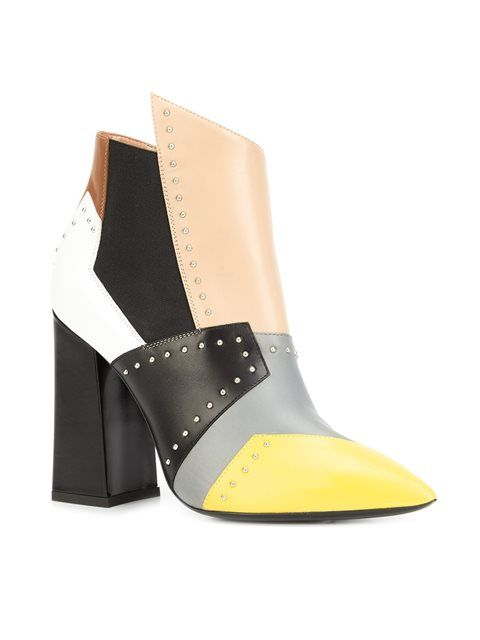 Pollini ботинки дизайна колор-блок