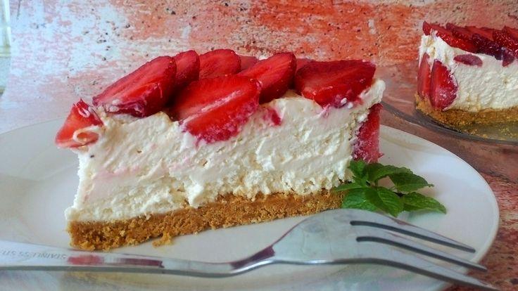 Diétás sajttorta sütés nélkül, egyszerűen, diétás uzsonnára, szülinapra! Epres cukormentes torta, diétás sütemény receptek fogyókúrázóknak! RECEPTÉRT KATT >