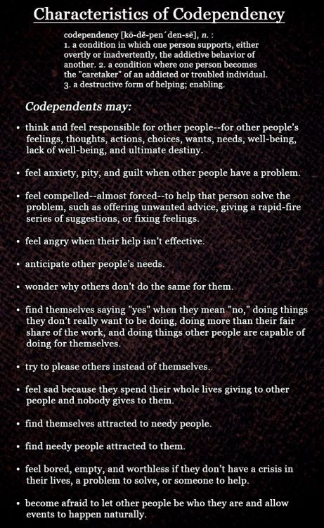 """These ideas were taken from Melody Beattie's book, """"Codependent No More."""""""