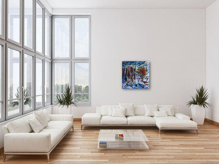 Bildvorschau: Nr. 602 Kellergang (2013) von Manuel Süess im Wohnzimmer  #Malerei #Painting #AbstractArt http://art-by-manuel.com
