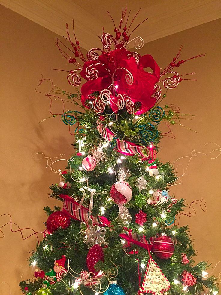 My Tree Topper Made From Hobby Lobby Ribbon And Picks