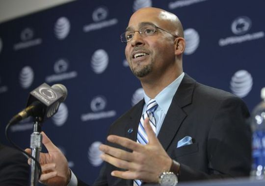 PENN STATE – FOOTBALL 2014 – Penn State coach James Franklin speaks during a news conference. (Photo: AP)