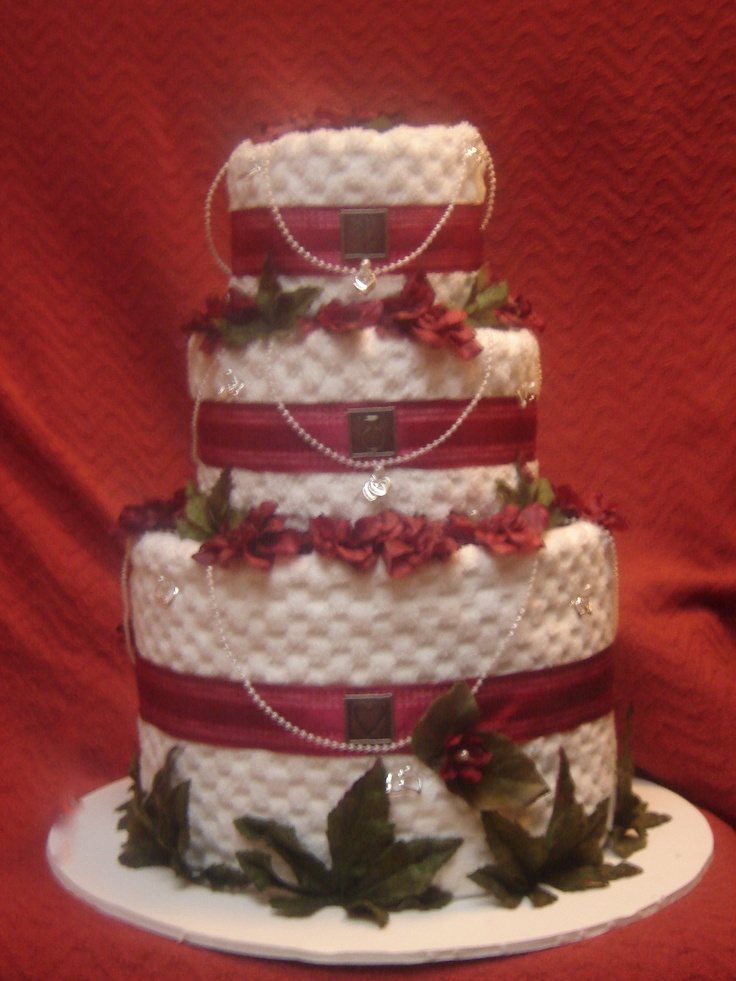 98 Best Images About Wedding Towel Cakes On Pinterest