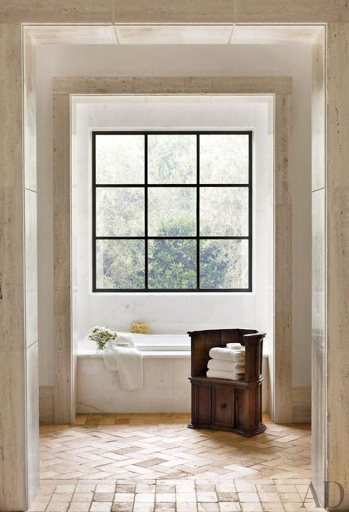 modern italian country | interior design + decorating ideas for the bathroom