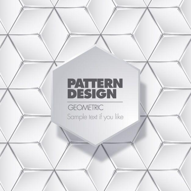 Geometric background design Free Vector