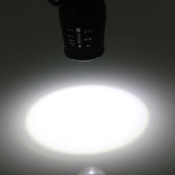 T6 800LM 5 Mode Focusing LED Flashlight Torch Black - Tmart