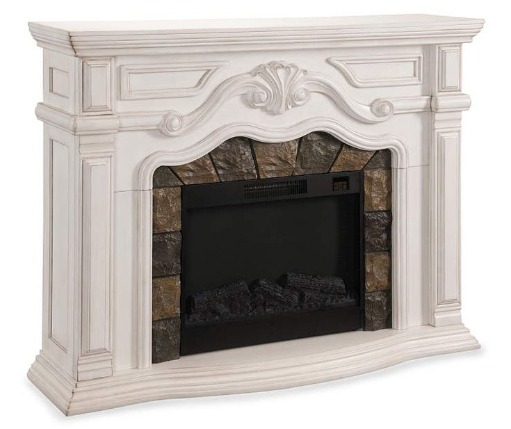 "62"" Grand White Electric Fireplace at Big Lots."