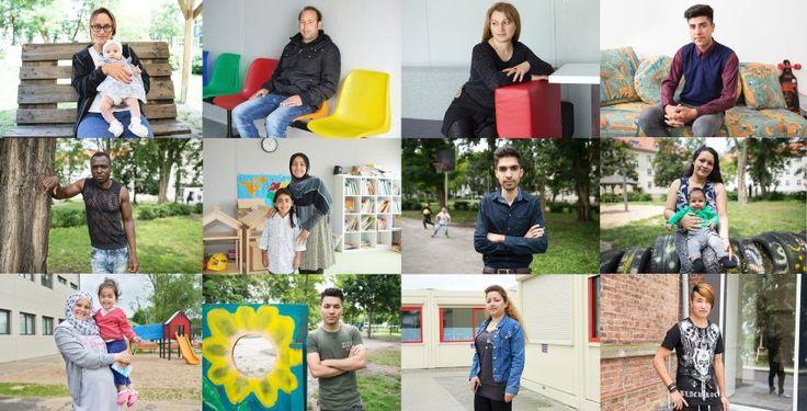 Hunderttausende Asylbewerber, Hunderttausende Hoffnungen, Ängste, Talente. Was erwarten die Zuwanderer von Deutschland? Wie können sie das Land bereichern? 42 Fotoporträts aus der ganzen Republik.