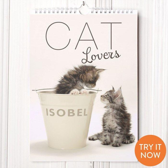 Personalised Calendar Cat Lovers | GettingPersonal.co.uk