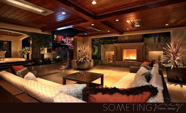 Luxury house entertainment area