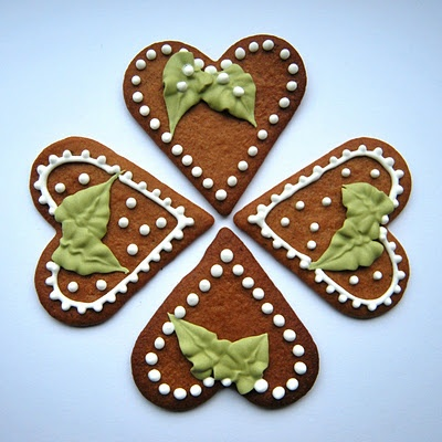 Gingerbreads decorated with royal icing