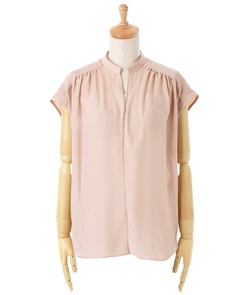 TOMORROWLAND (women's)(トゥモローランド ウィメンズ) 公式ファッション通販サイト / ポリエステルコットン フレンチスリーブプルオーバー(シャツ・ブラウス)|セレクトスクエア