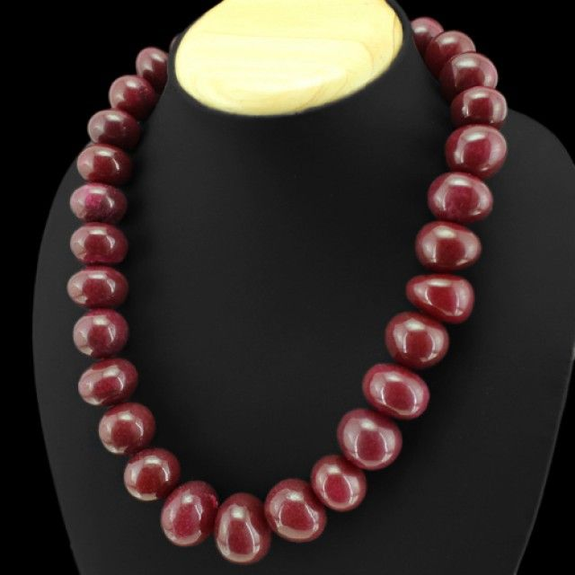 1120 Tcw. Ruby Necklace - Superb  NATURAL RUBY   GEMSTONE NECKLACE FROM GEMROCKAUCTIONS.COM