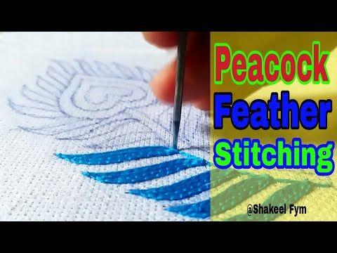 Hand Embroidery Peacock feather | design | Hand work | Aari work - YouTube