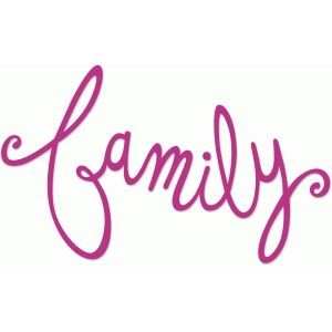 Silhouette Design Store - View Design #73288: family cursive title