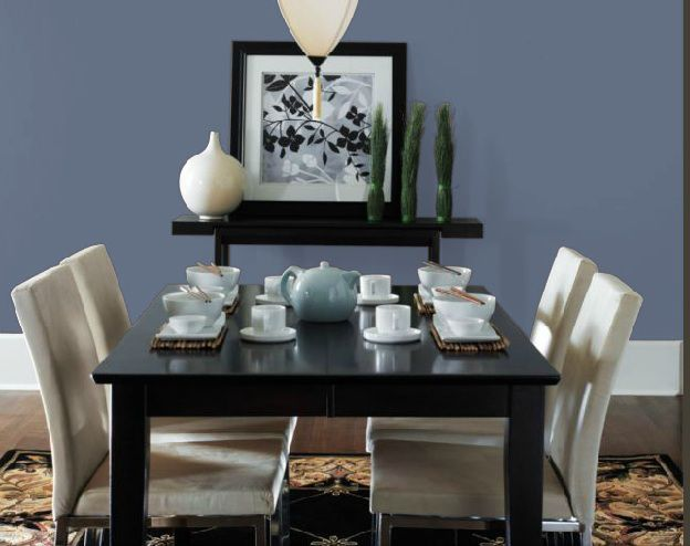 Blue Is A Great Choice For Dining Room
