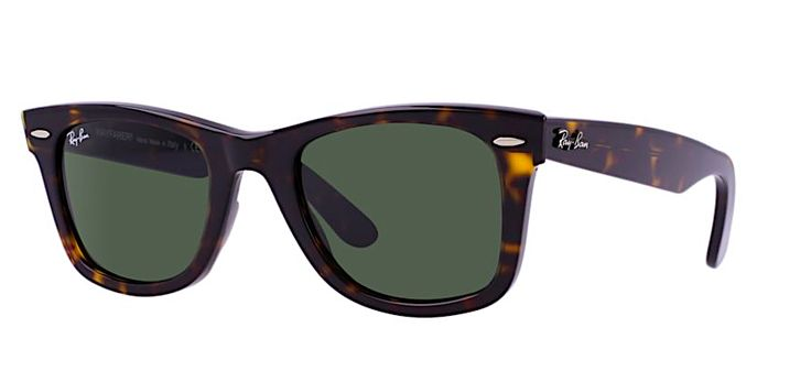 RAY BAN ORIGINAL WAYFARER RB 2140 902 TORTOISE WITH CRYSTAL GREEN LENES Since its creation in 1952 the Ray Ban Wayfarer is by far the most recognizable style of sunglasses in the world. It's no myster