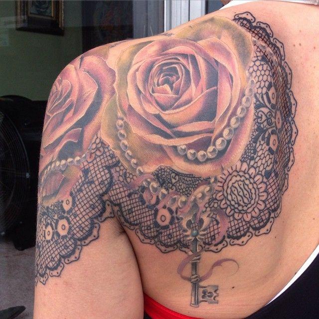 Lace Pearls Tattoo Drawing Wwwpicturesbosscom