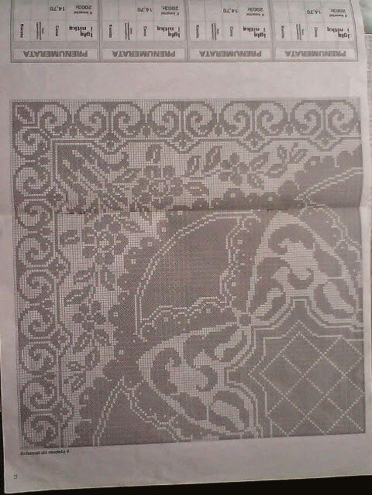 Скатерть Вязаные сокровища крючок схема