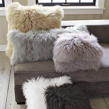 Mongolian Lamb Pillow Cover #WestElm