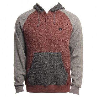 Billabong Mens Sweatshirt Balance Pullover Red Heather