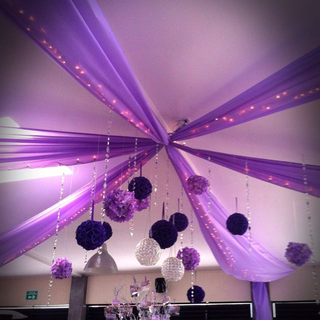 Pin By Deshawna Blackwell On Deborah S Party Sweet 16 Decorations Quinceanera Purple