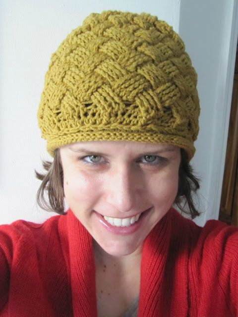 Basket Weave Hat Pattern Free : Best images about crochet basketweave patterns on