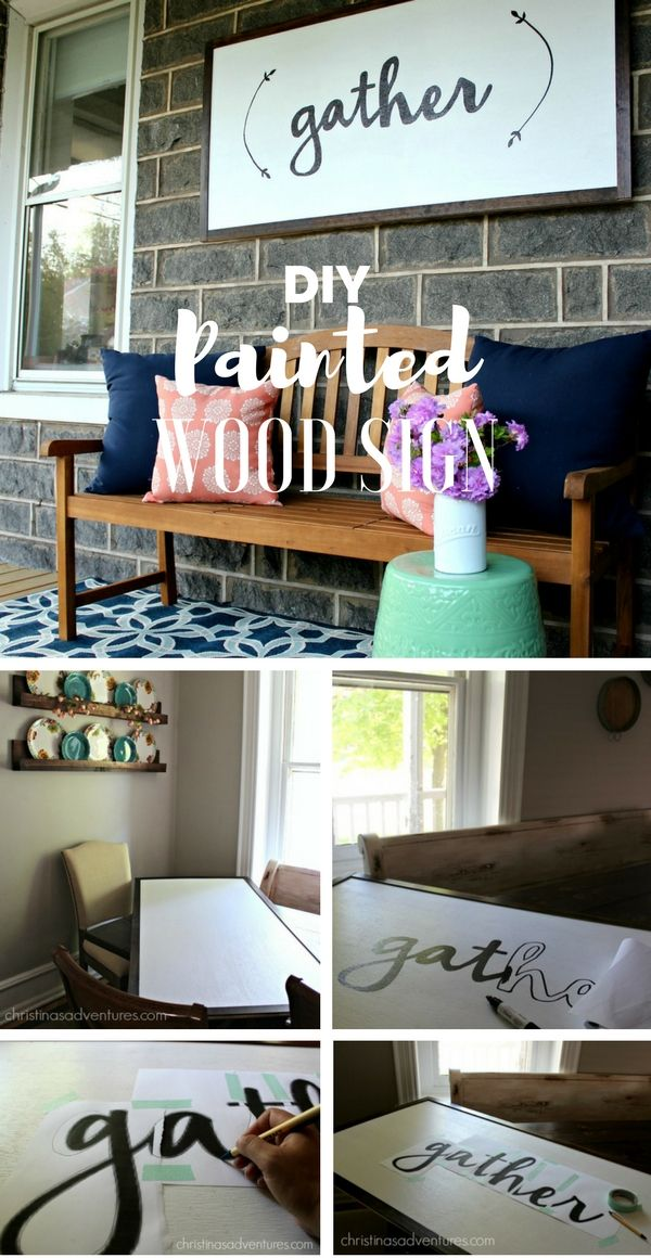 Check out the tutorial: #DIY Painted Wood Sign @istandarddesign