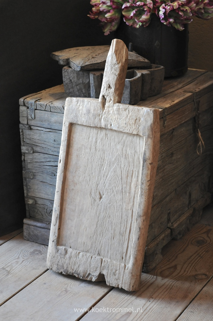 oude vergrijsde snijplank