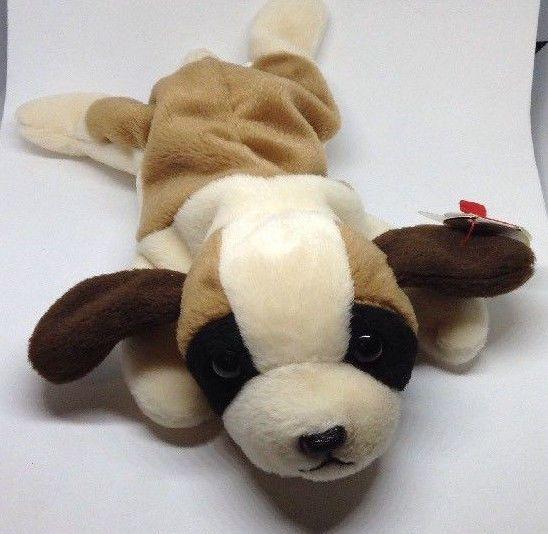 TY Beanie Baby BERNIE  St. Bernard puppy Dog bean bag plush Stuffed Animal Toy #Ty