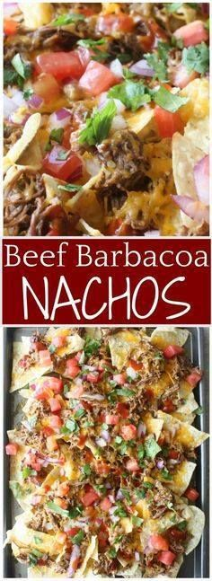 Beef Barbacoa Nachos Beef Barbacoa Nachos. Barbacoa Beef Nachos...  Beef Barbacoa Nachos Beef Barbacoa Nachos. Barbacoa Beef Nachos recipe. Toasted chips with layers of slow cooker beef barbacoa melted cheese and loaded with flavorful toppings. Gather around this tray of Barbacoa Beef Nachos for a crowd pleasing appetizer or meal. #barbacoa #nachos #crockpotmexicanfood Recipe : http://ift.tt/1hGiZgA And @ItsNutella  http://ift.tt/2v8iUYW