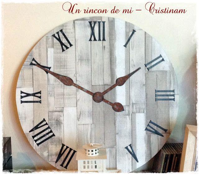 17 mejores ideas sobre reloj grande en pinterest for Reloj pared estilo industrial