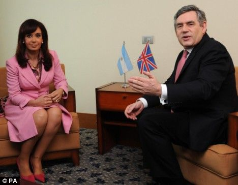 No negotiations over the Falklands: Brown's vow as he meets ...
