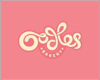 Pastry logo design: Oodles bakery