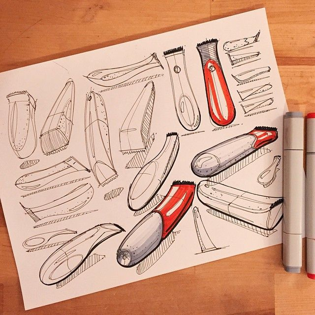 Warm up beard trimmers. #id #idsketching #industrialdesign #productdesign…