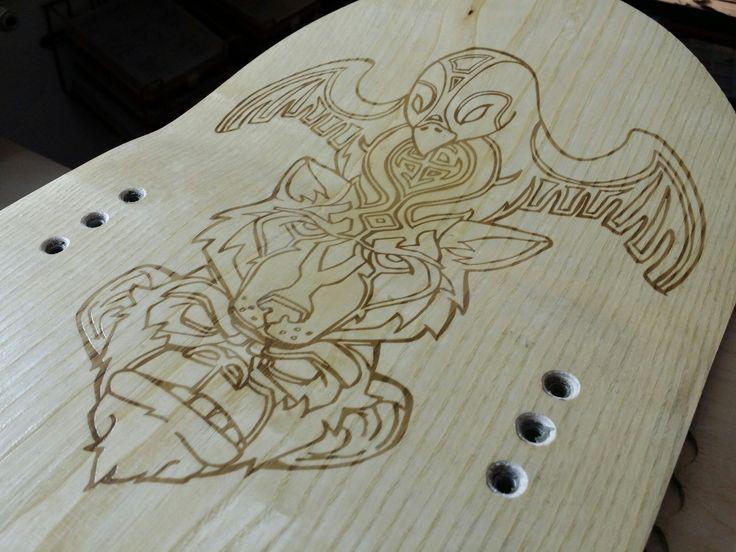 Гравировка на лыже для сноубайка.  ++  Engraving on a ski for snowbike.