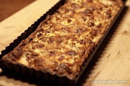Quiche de queso y cebolla http://www.cocinasalud.com/quiche-de-queso-y-cebolla/