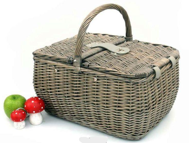 cesta picnic para 2 personas con bolsa termica. la mimbrera