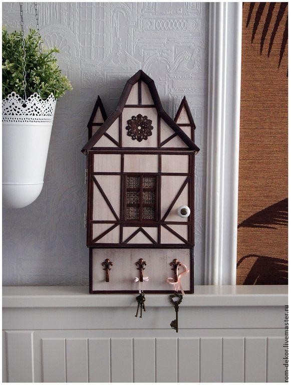 "Купить Ключница-домик ""Karlstein"" - бежевый, ключница, ключница-домик, стиль фахверк, Бавария, германия"