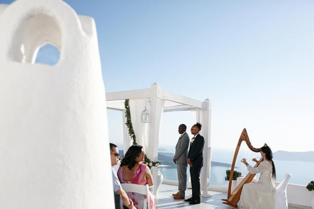 Elegant Santorini wedding