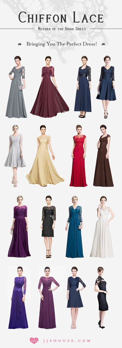 Chiffon Lace Mother of the Bride Dress  Bringing You The Perfect Dress! #motherdress