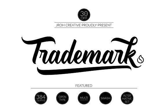 Trademark (30% off) by JROH Creative on @creativemarket