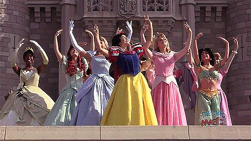 That time all the princesses did a synchronised dance like this. | Community Post: 25 Times Disney Face Characters Were Completely Adorable