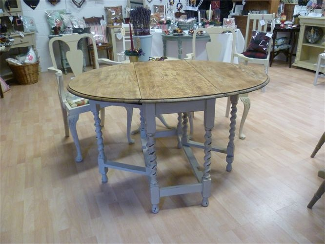 Possibly Paint The Gate Leg Table Like This For The