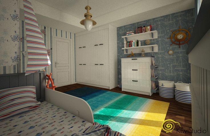 KiwiStudio   Design contemporan si New Scandinavian pentru apartament mare / camera copii