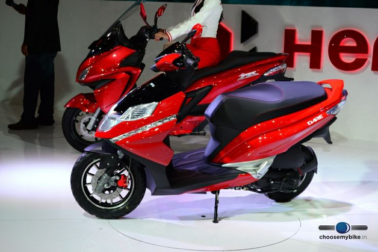 The Dare is Hero MotoCorp's first product in the 125cc scooter segment. Styled to appeal to the younger generation.