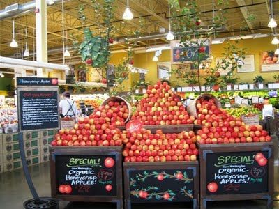 images of produce displays | more whole foods fun a display for honeycrisp apples the produce dept ...