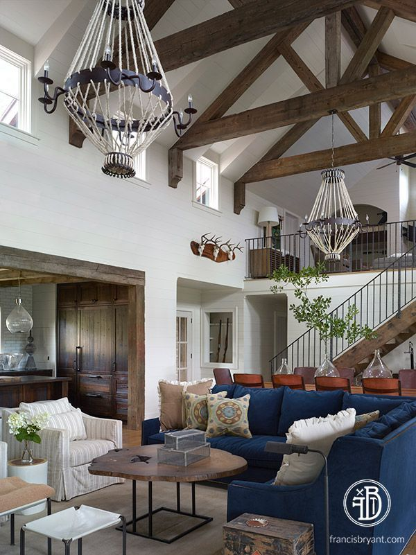 42 Ideas For Living Room Small Rustic Beams Livingroom: Custom Built Home By Francis Bryant Construction \ Living