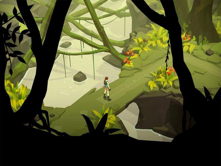 (*** http://BubbleCraze.org - It's fun, it's free and it's wickedly addicting. ***)  Lara Croft GO iPad Game Artwork - Beautiful!