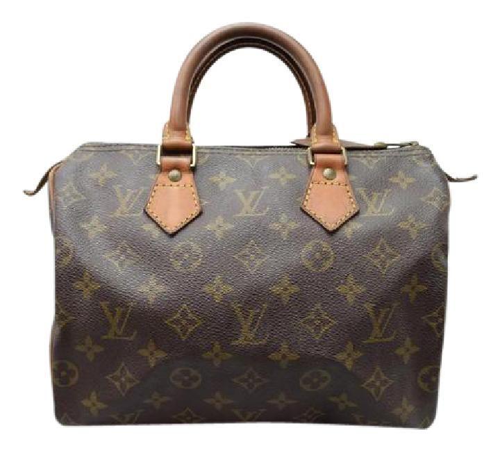 Louis Vuitton Speedy 25 Speedy Speedy Monogram Satchel in Brown